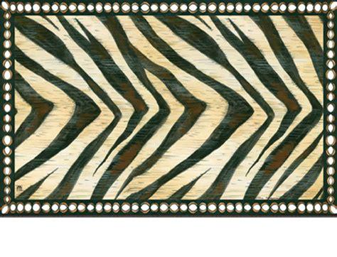 Patterned Doormat Indoor Outdoor Matmates Pattern Doormat Zebra