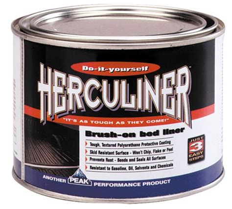 brush on bed liner herculiner hcl0b7 brush on bed liner quart 074804800043