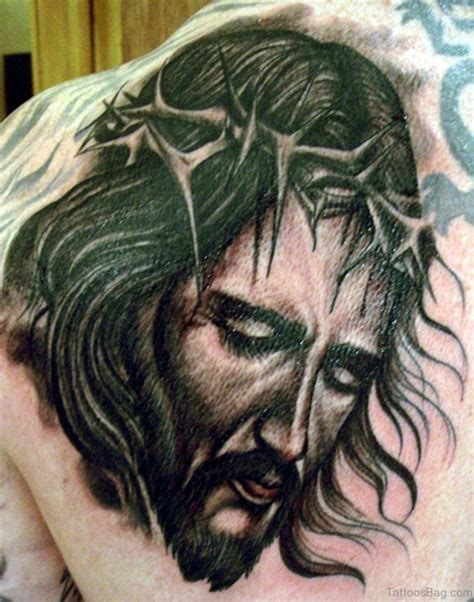 black jesus tattoo 82 delightful jesus tattoos for back