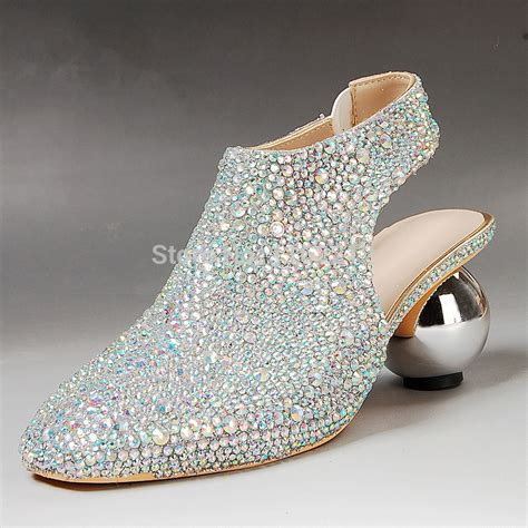 ol46 silver heels slingback shoes colorful