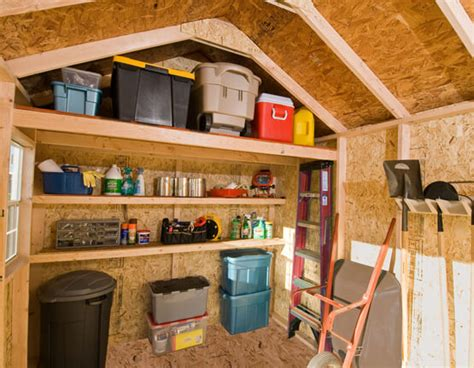 How To Build A Shelf In A Shed by The Dos And Dont S Of Shed Organization Backyard Buildings