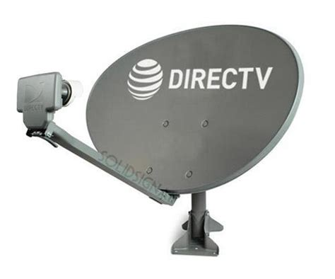 directv slimline 3 lnb satellite dish with stub mount kit sl3t from solid signal