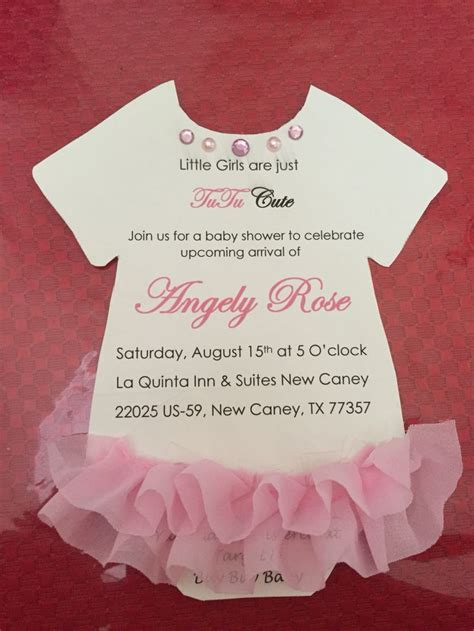 Tutu Baby Shower Invitations by Best 621 Baby Shower Planning Ideas On