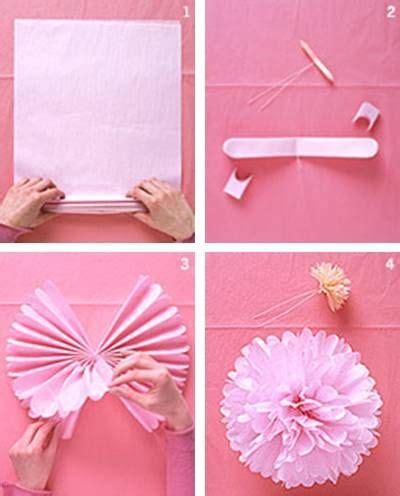 tissue paper flower tutorial martha stewart martha stewart tissue paper pom poms party ideas pinterest