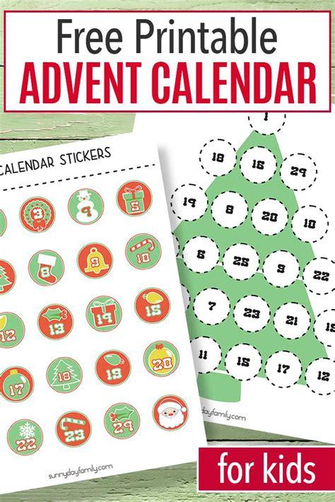 Free Advent Calendar Template