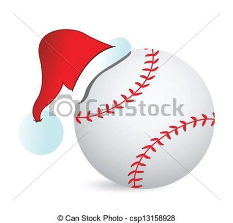 vector illustration of baseball santa cap illustration