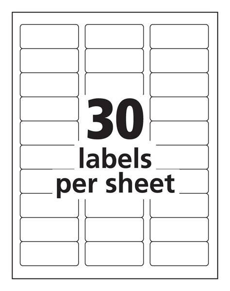 inkjet labels 33 per sheet j8157 white permanent avery 936058 box
