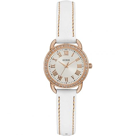 Guess Fashion Gold White guess fifth ave white leather gold