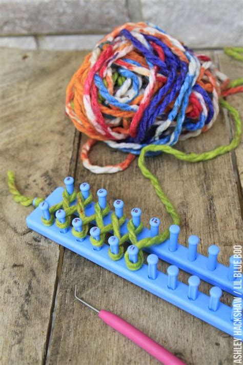 easy loom knitted scarf easy diy scarf using a loom hackshaw lil blue boo
