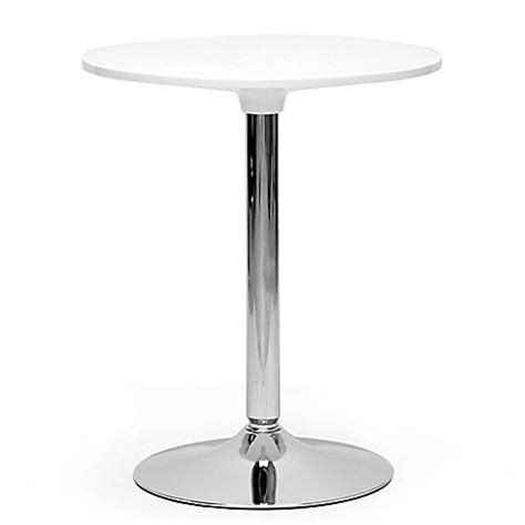 Bed Bath And Beyond Bistro Table Baxton Studio Small Bistro Table In White Bed Bath Beyond