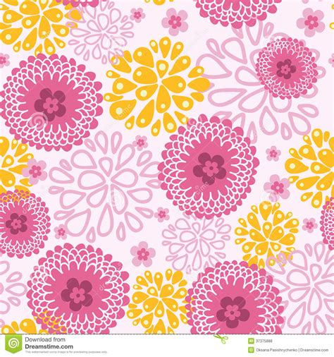flowers seamless pattern element vector background pink field flowers seamless pattern background stock