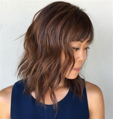 lob haircut with bangs 30 modern asian girls hairstyles for 2017