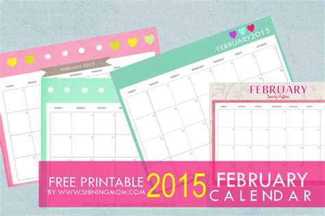 free printable mom planner 2015 designs you ll love free printable february 2015 calendar