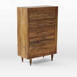 west elm reclaimed wood 5 drawer dresser in midtown
