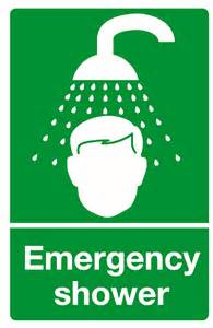 emergency shower sign shower sign and other aid signage
