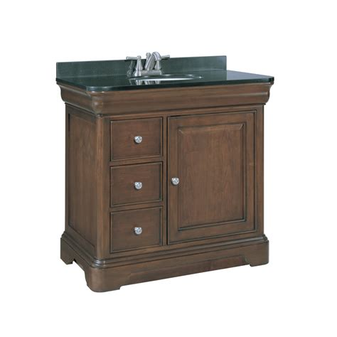 lowes granite bathroom vanity top shop allen roth fenella rich cherry undermount single