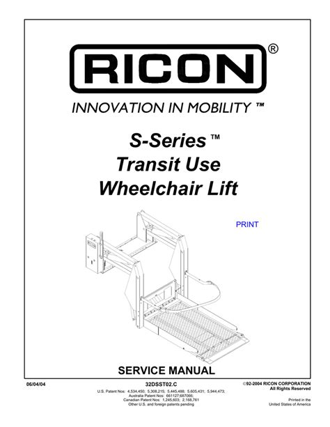 ricon s series lift wiring diagram 34 wiring diagram