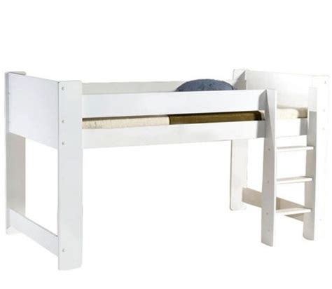 White Mid Sleeper Bed by Buy Cube Mid Sleeper Bed White From Our Mid High