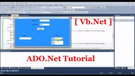 youtube tutorial vb net ado net tutorial for beginners with vb net part 1 youtube