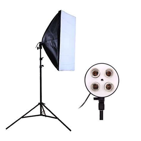 Softbox Studio Photography Studio Softbox Kit Photo Lighting Four Capped L Holder Lighting 50 70cm Softbox