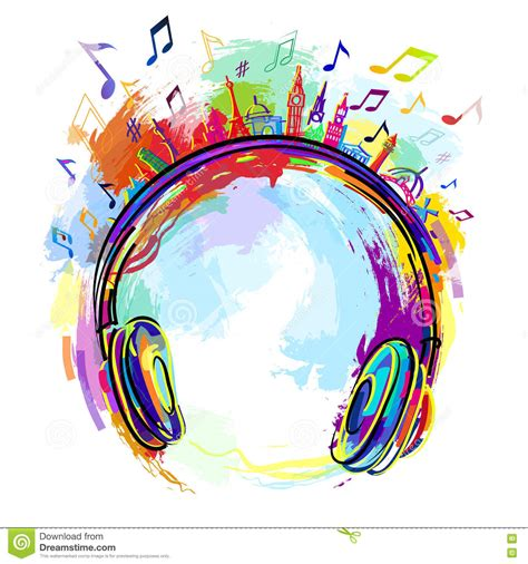 colorful headphones colorful headphones stock vector image 78620074