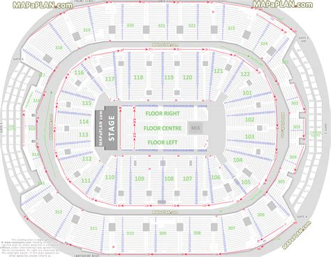 Acc Floor Plan | air canada centre detailed seating plan video search