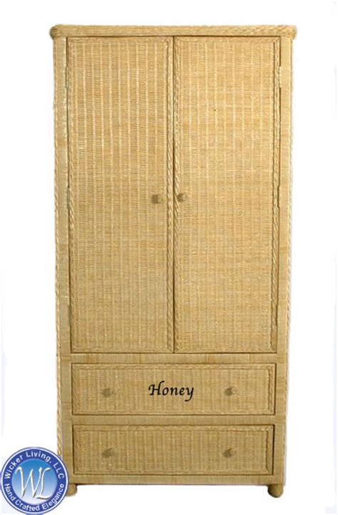 wicker armoire wicker armoire wardrobe hton bay natural