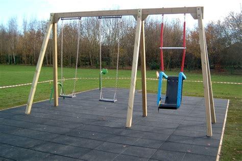 triple swing double bay triple swing outdoor play people