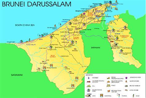 brunei map brunei maps brunei travel map southeast asia map