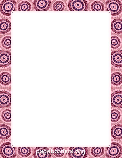 free printable african stationary aboriginal border lindos pinterest border templates