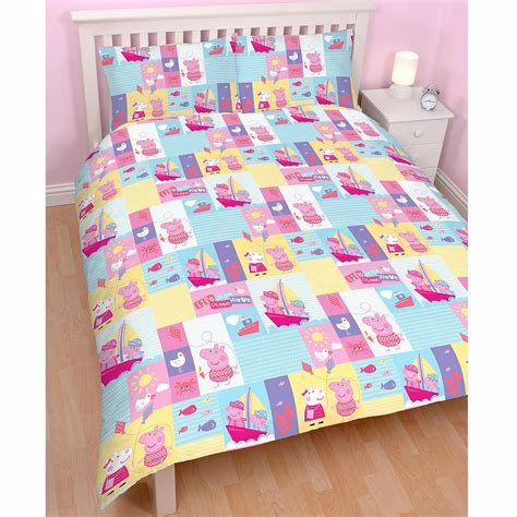 Peppa Pig Bed Set Duvet Peppa Pig Nautical Rotary Duvet Cover Pillowcase Set Bedding New Ebay