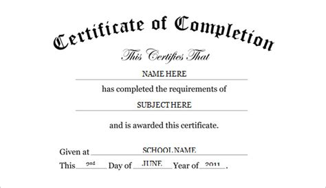 free certificate of completion template word preschool certificate template 16 free word pdf psd