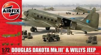 Douglas Jeep A09008 Douglas Dakota Mkiii With Willys Jeep 1 72 Airfix