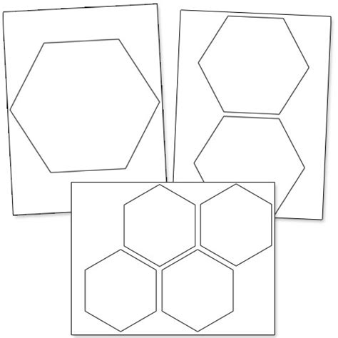 4 inch hexagon template printable printable hexagon template pictures to pin on