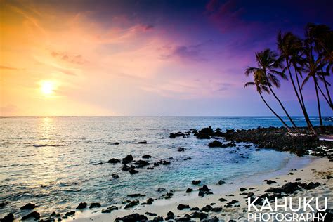 hawaii photography sunset mahai ula beach hawaii landscape photography