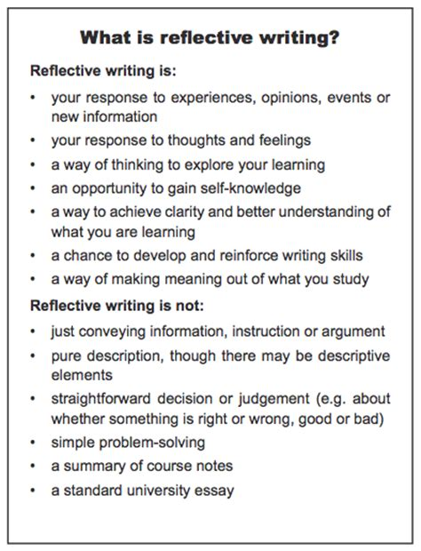 how to write reflection paper in psychology