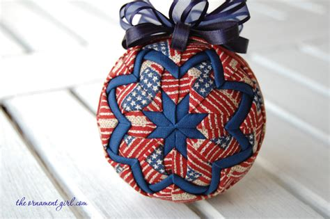 Handmade Ornament Patterns - patriotic ornament handmade with longaberger fabric