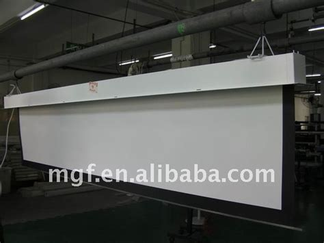 100 quot wall mount or ceiling mount electric projector screen