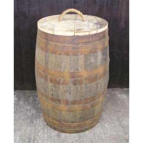 barrel garden  litre oak barrel bin