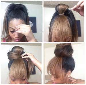 black hairstyles bun with bangs cute bun w quot bangs quot great for bad hair days hair