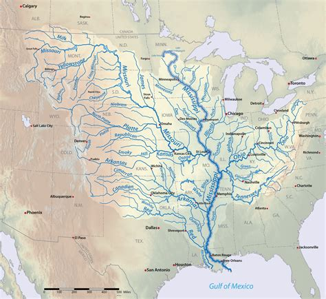 map of usa missouri river rivers mississippi and maps on
