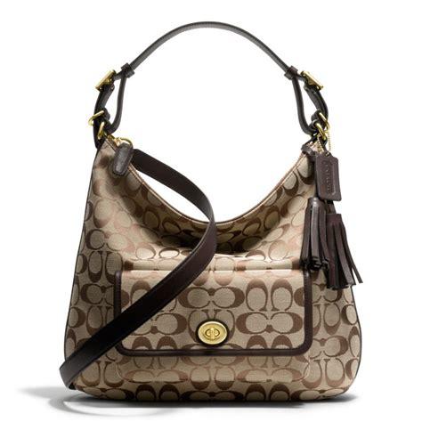 Coach Legacy Signature Cotton Shoulder Bag by Coach Legacy Courtenay Hobo Shoulder Bag In Signature