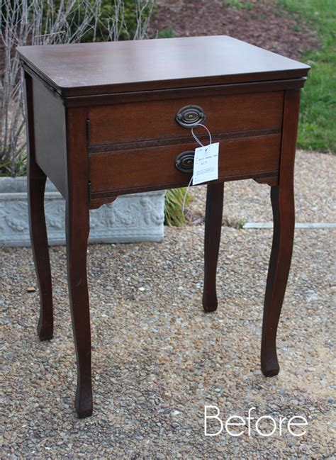 used sewing machine table cottage inspired sewing machine table makeover