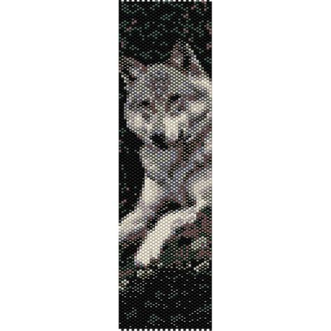 libro wolf beaded bookmark wolf peyote bead pattern bracelet cuff bookmark seed