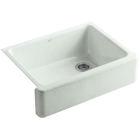 kohler hawthorne tile in farmhouse apron front cast iron