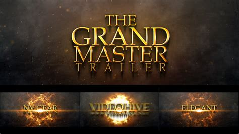 Grand Masters With Mba Degrees by Grand Master Cinematic Trailer After Effects Project Files