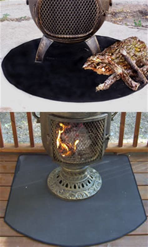Chiminea On Deck Resistant Chiminea Outdoor Fireplace Deck Pad