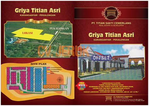 template undangan mandarin cetak brosur perumahan griya titian asri percetakan