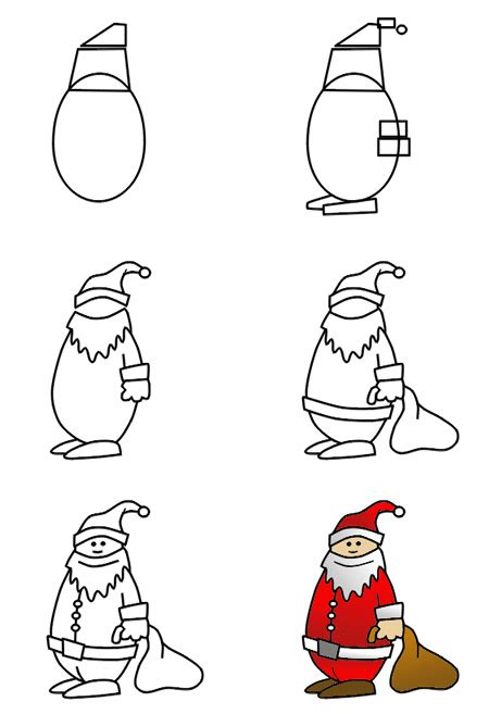christmas drawing step by step and gift to gift cartoon drawing a santa