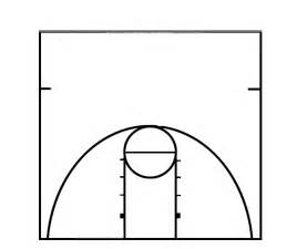basket templates best photos of basketball court template in word half